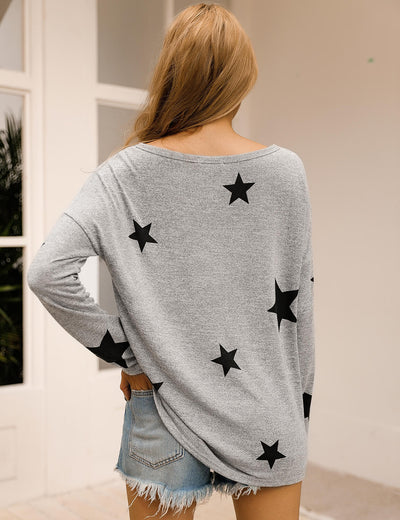 Dreamy Stars Sleeves Pullover Sweatshirt