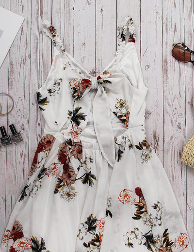 Glamorous Cut Out Wrap Floral Maxi Dress