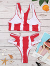 Sporty Tie Dye Racerback Bikini Set - Blooming Jelly