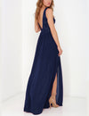 Backless Lace Zipper Summer Maxi Dress - Blooming Jelly