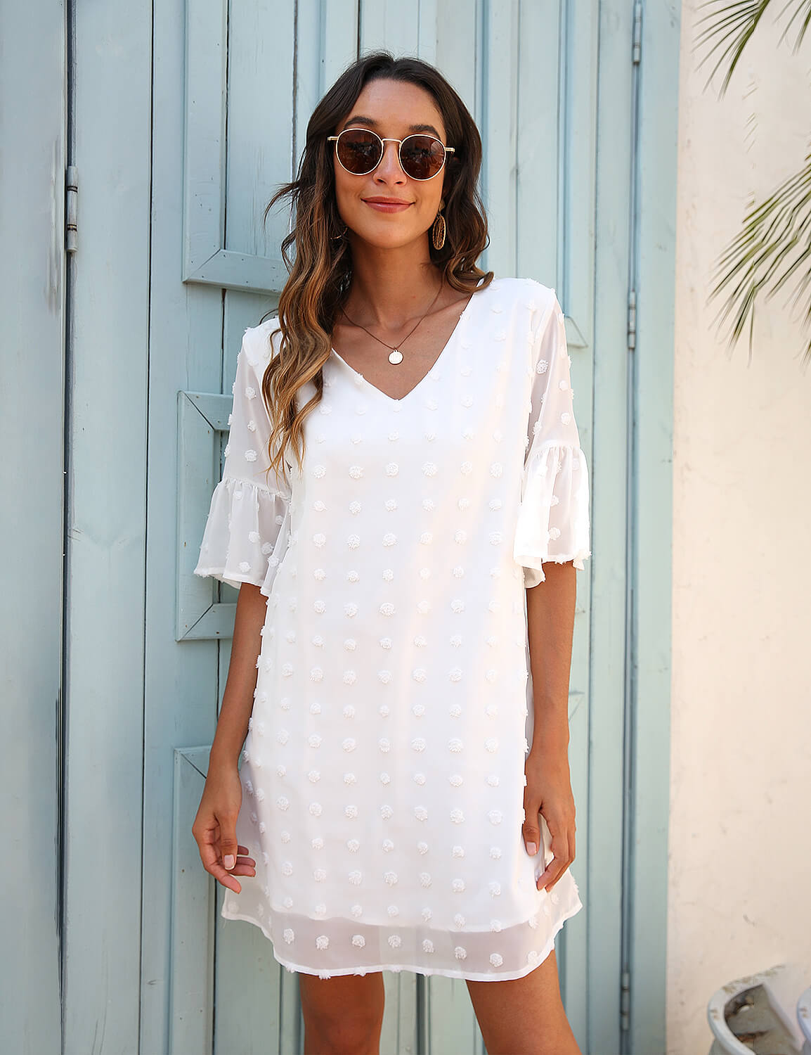 Casual Layered Chiffon Sun Dress