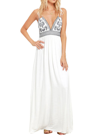 DAYS OF SUNLIGHT IVORY EMBROIDERED MAXI DRESS