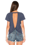 Workout Tops Backless Back Knot T-Shirt