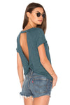 Workout Tops Backless Back Knot T-Shirt - Blooming Jelly