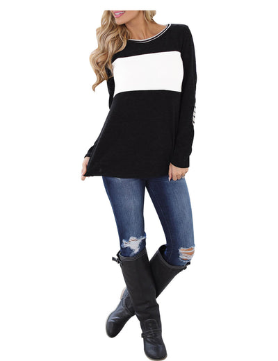 Everlasting Color Block Long Sleeve T-Shirt - Blooming Jelly
