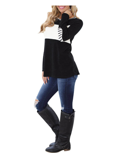 Everlasting Color Block Long Sleeve T-Shirt