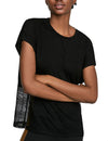 Mesh Splicing Casual Active T Shirt Top