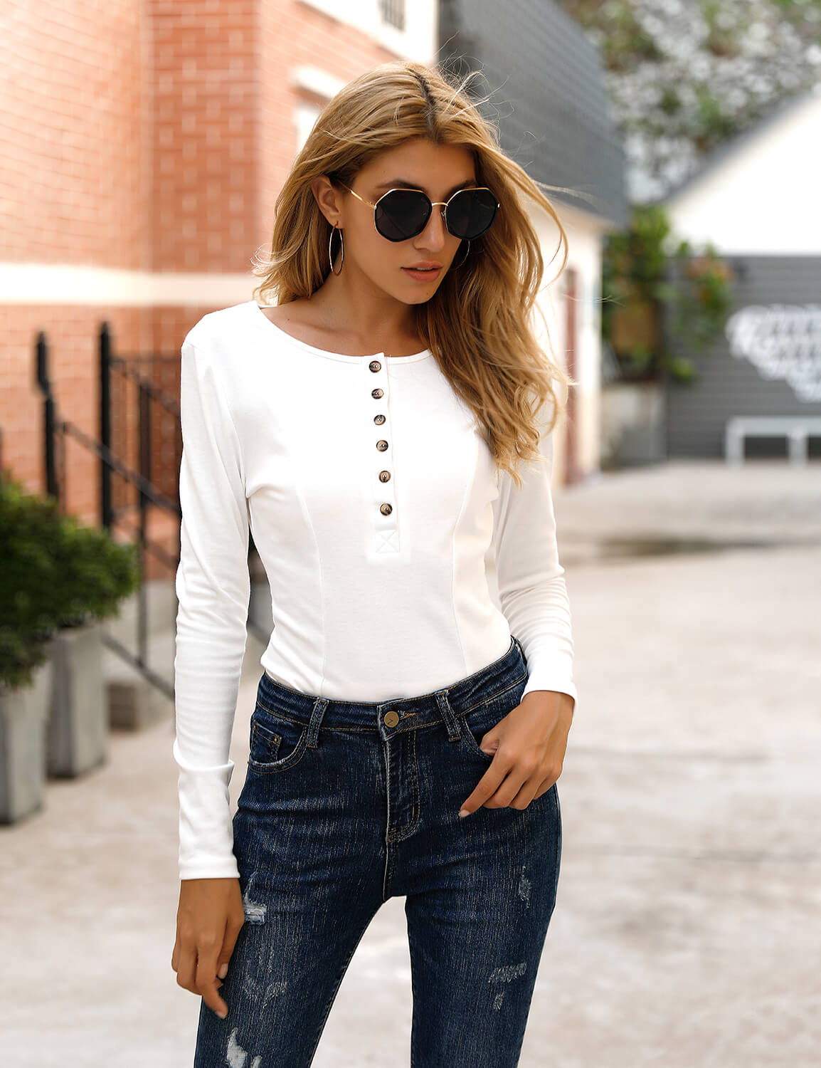 Blooming Jelly_My Muse Long Sleeve Basic Bodysuit_White_152687_19_Women Fashion Bodycon Outfits_/_Bodysuit