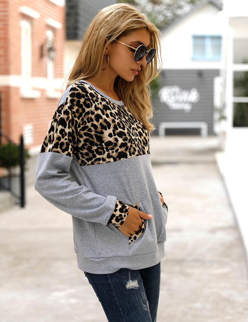 Blooming Jelly_Leopard Patchwork Long Sleeve T-Shirt_Contrast Color_152747_07_Women Casual Outfits_Tops_T-Shirt