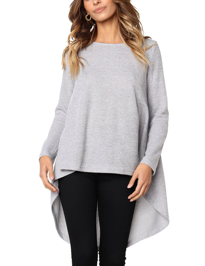 Long Sleeve Loose Pullover Irregular Sweater