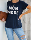 Blooming Jelly_Mom Mode Print Soft Modal T-Shirt_Navy_153346_03_Women Summer & Spring Stylish Outfits_Tops_T-Shirt