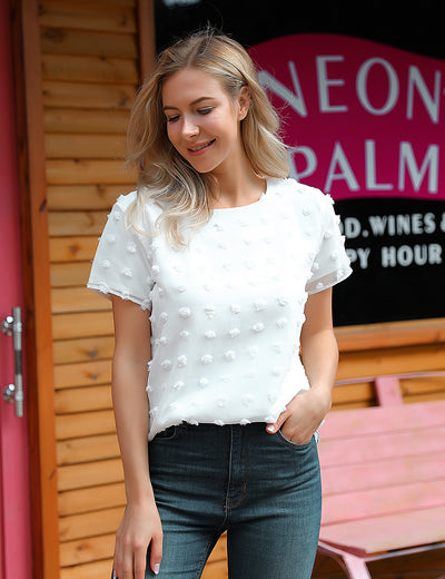 Casual Daily Wear Summer Chiffon Blouse - Blooming Jelly