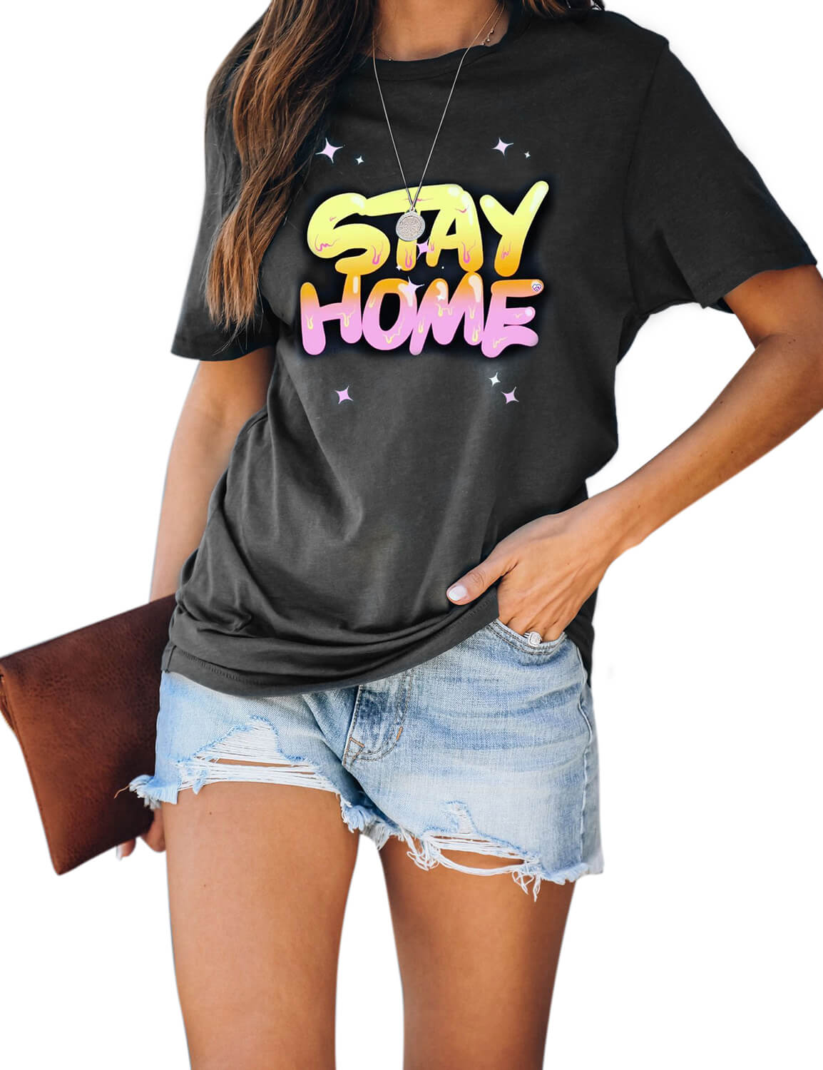 Twinkling Stay Home T-Shirt - Blooming Jelly