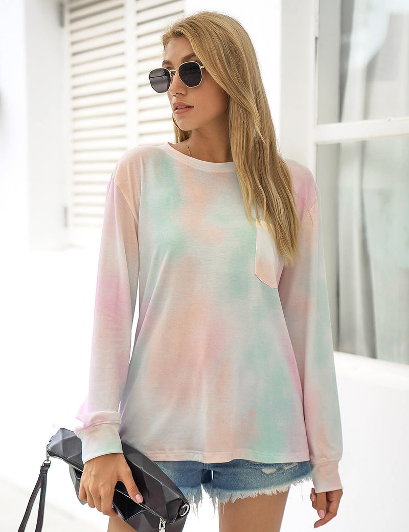 Blooming Jelly_Sweet Girl Tie Dye Long Sleeve Tee_Tie Dye Print_153494_21_Stylish Women Casual Outfits_Tops_T-Shirt