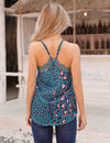 Edgy Style Leopard Print Lace Cami Top - Blooming Jelly