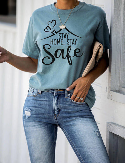 Cozy Stay Home Stay Safe T-Shirt - Blooming Jelly