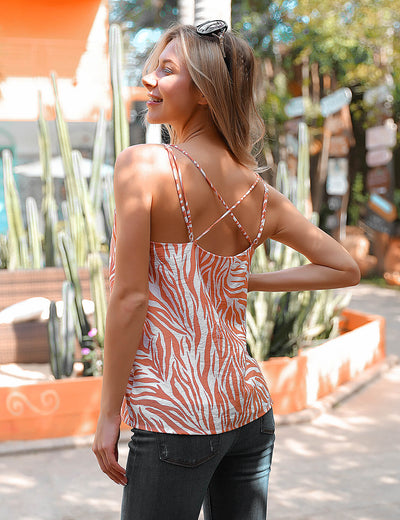 Wilding Urban Loose Fit Zebra Print Cami Top - Blooming Jelly