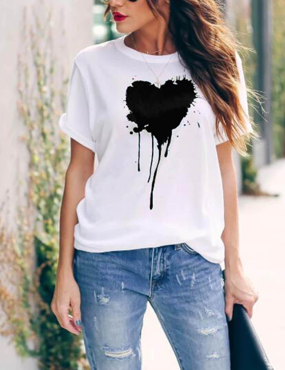 Melting Black Heart T-Shirt - Blooming Jelly