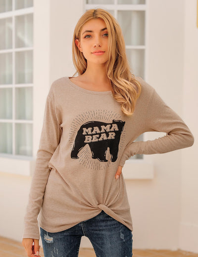 Blooming Jelly_Mama Bear Twist Long Sleeve T-Shirt_Letter Print_155590_31_Women Casual Outfits_Tops_T-Shirt