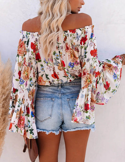 Blooming Jelly_Rose Garden Off Shoulder Floral Blouse_Floral Print_156288_21_Women Fashionable Outfits_Tops_Blouse