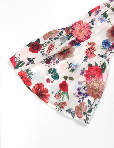 Rose Garden Off Shoulder Floral Blouse