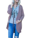 Home Life Open Front Casual Cardigan - Blooming Jelly
