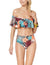Off the Shoulder Tropical Print Ruffle Bikini Set