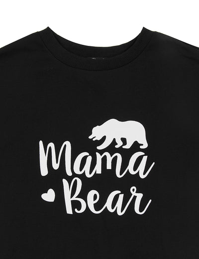Oversized Mama Bear Print Sweatshirt - Blooming Jelly