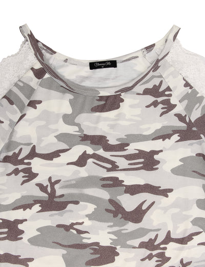 Blooming Jelly_City Girl Lace Cold Shoulder Camo T-Shirt_Camo Print_156304_28_Adorable Women Daily Wear_Tops_T-Shirt