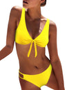 Have Fun Knotted-Front Bikini Set - Blooming Jelly
