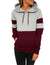 Blooming Jelly_Front Pocket Contrast Color Drawstring Hoodie_Maroon Patchwork_302013_27_Autumn&Winter Outdoor Casual_Tops_Hoodie
