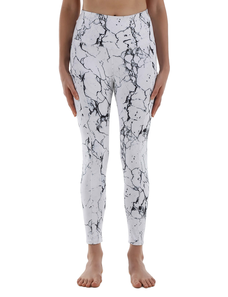 Active Marble Print High Waist Yoga Leggings