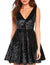 Let's Go Party Deep V Neck Velvet Dress