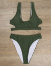 Side Cut-out Sports Swimsuit