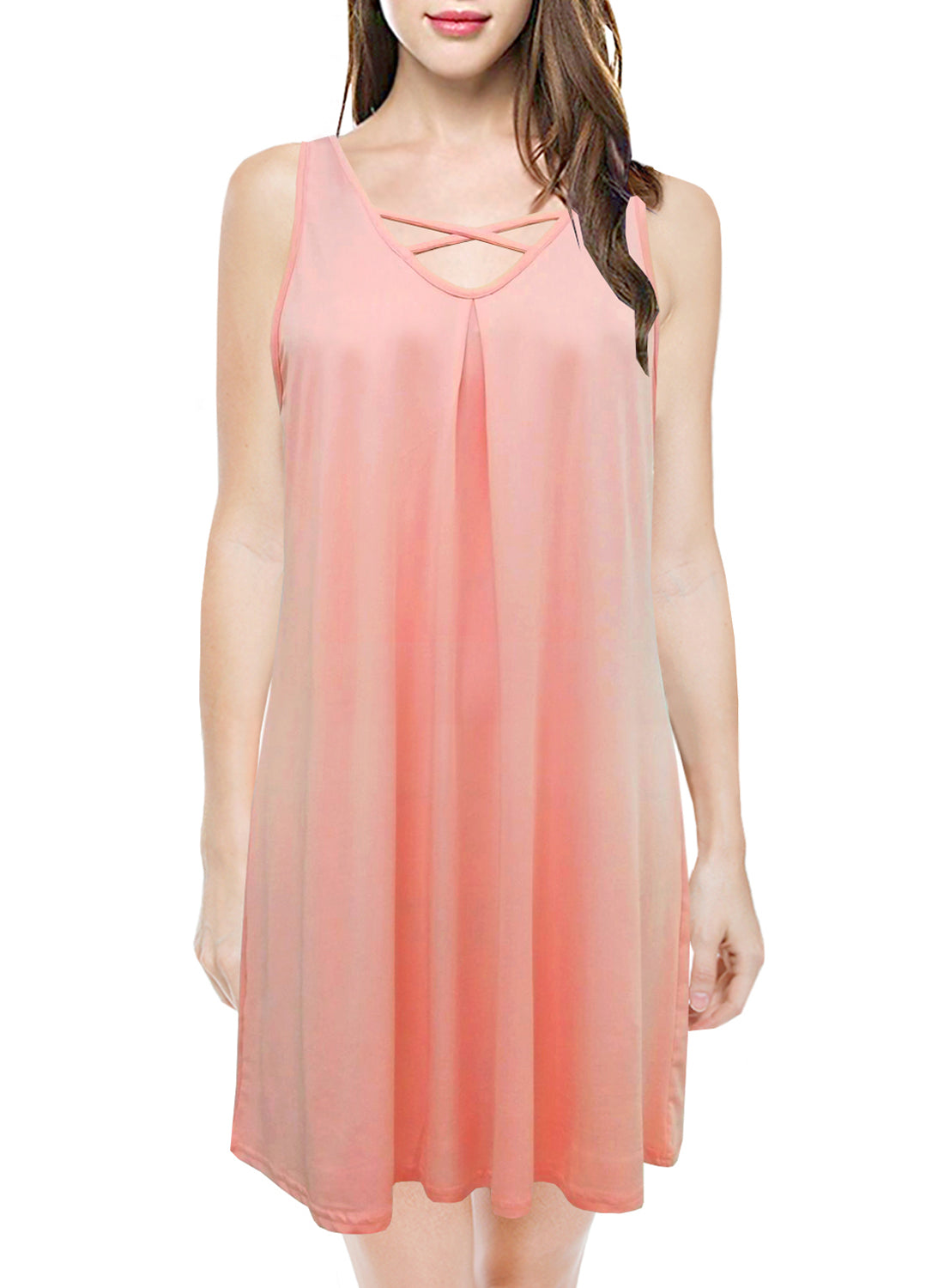 Chemise Nightgown Pleated Short Gown Sleepwear