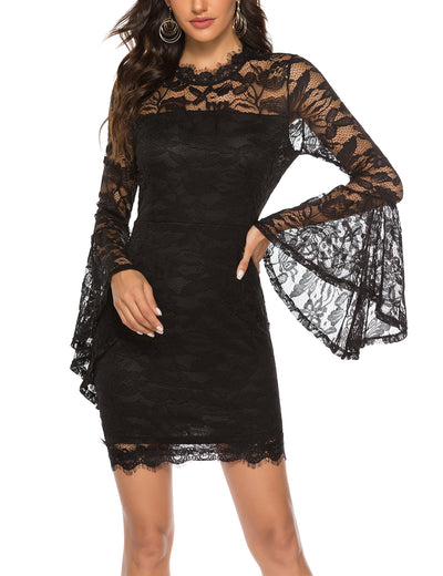 Delightful Day Lace Bodycon Party Dress - Blooming Jelly