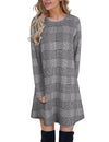 Blooming Jelly_Plaid Scoop Neck Long Sleeve Swing Mini Dress_Gray Plaid_142356_07_Autumn&Winter Outdoor Casual A-Line_Dress_Mini Dress