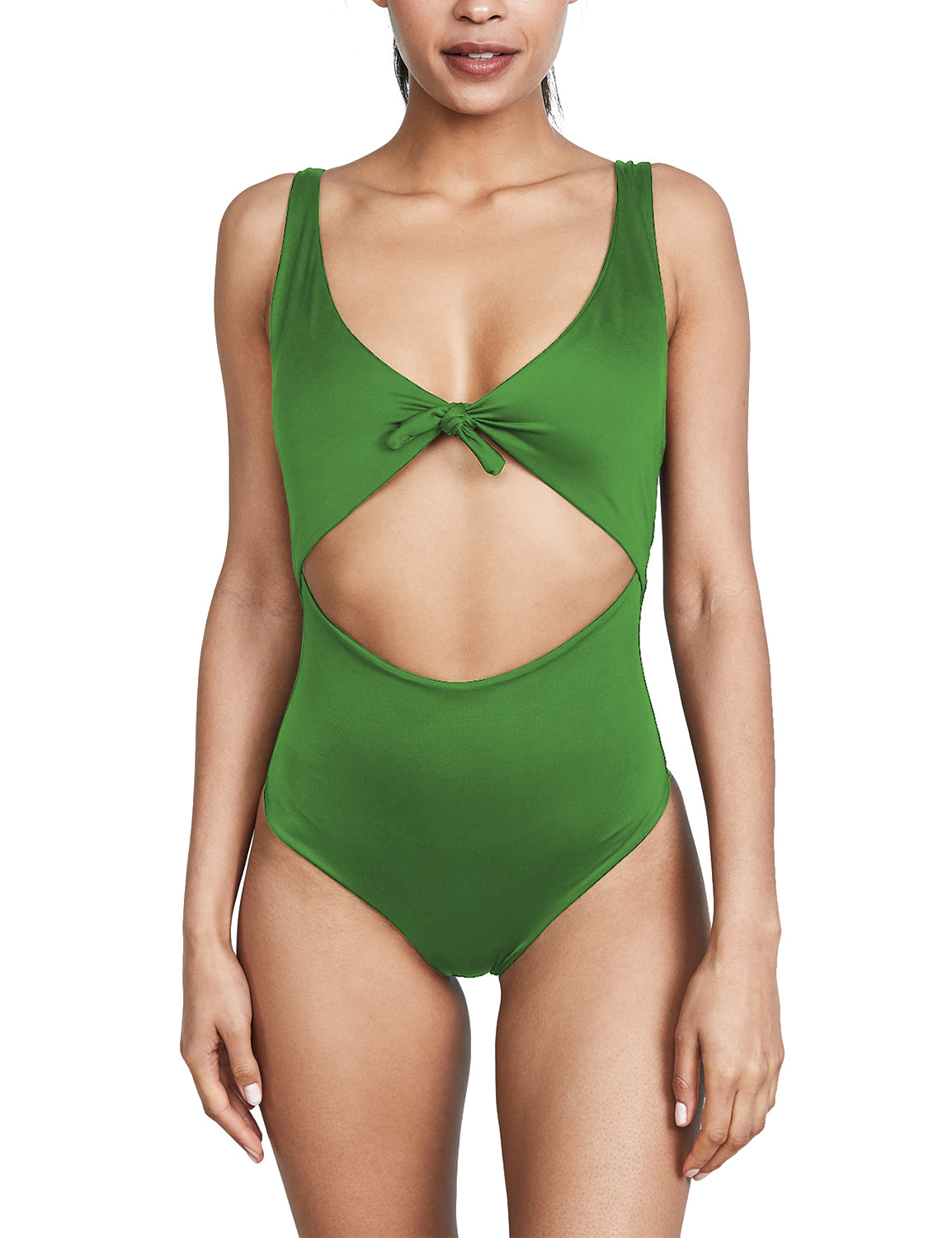 Honeymoon Tie Knot Front Cutout One Piece - Blooming Jelly