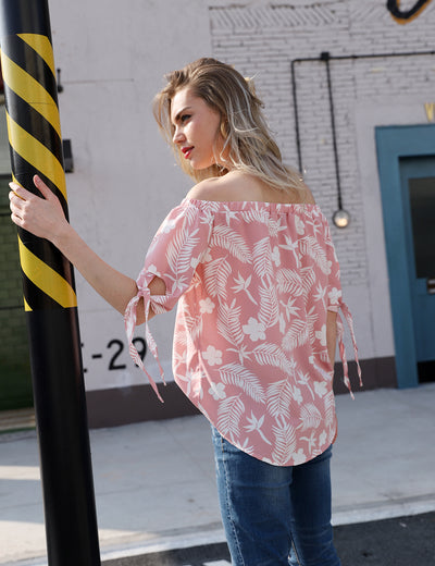Off the Shoulder Sweet Floral Top - Blooming Jelly