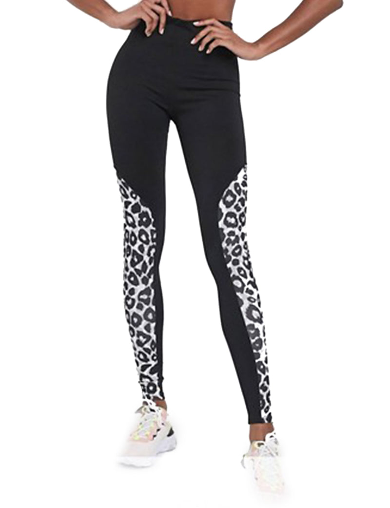Active Leopard Side High Waisted Leggings