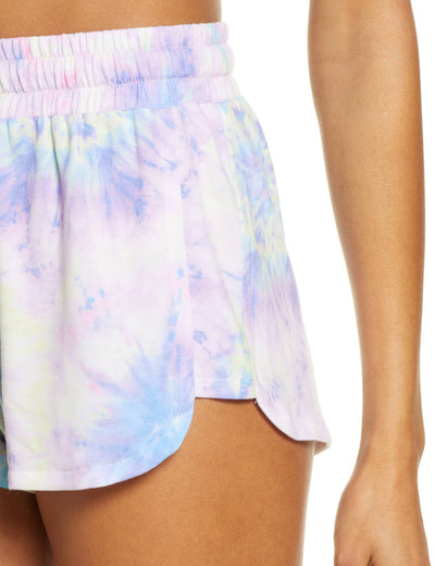 Blooming Jelly_Drawstring Tie Dye Pockets Dolphin Shorts_Tie Dye Print_252612_26_Summer Women Sportswear_Bottoms_Shorts