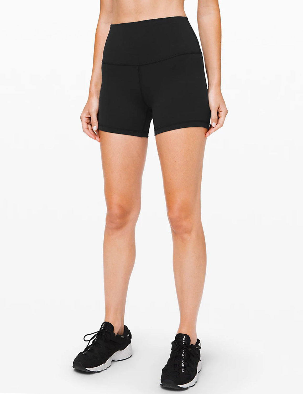 Blooming Jelly_Tummy Control High Waisted Biker Shorts_Black_253080_02_Women Athletic High Elascity Workout_Bottoms_Shorts