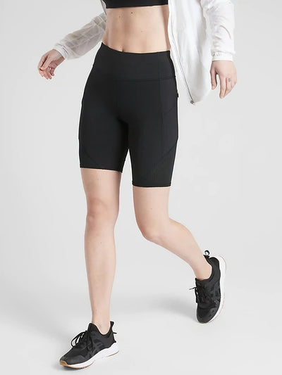 Blooming Jelly_Sporty Cropped Leggings Mesh Biker Shorts_Black_254016_02_Women Athletic Comfy Outfits_Bottoms_Shorts