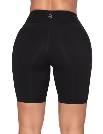 Blooming Jelly_Comfy Breathable High Waist Biker Shorts_Black_254035_02_Women Athletic High Elascity Workout_Bottoms_Shorts