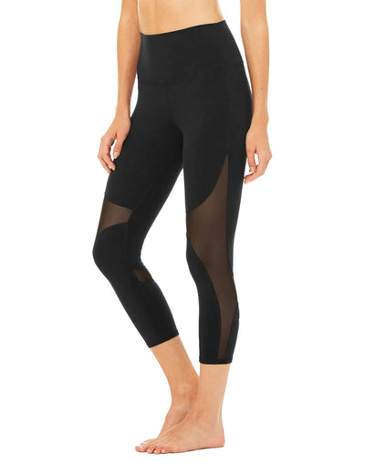 Mesh Patchwork Workout Capri Leggings