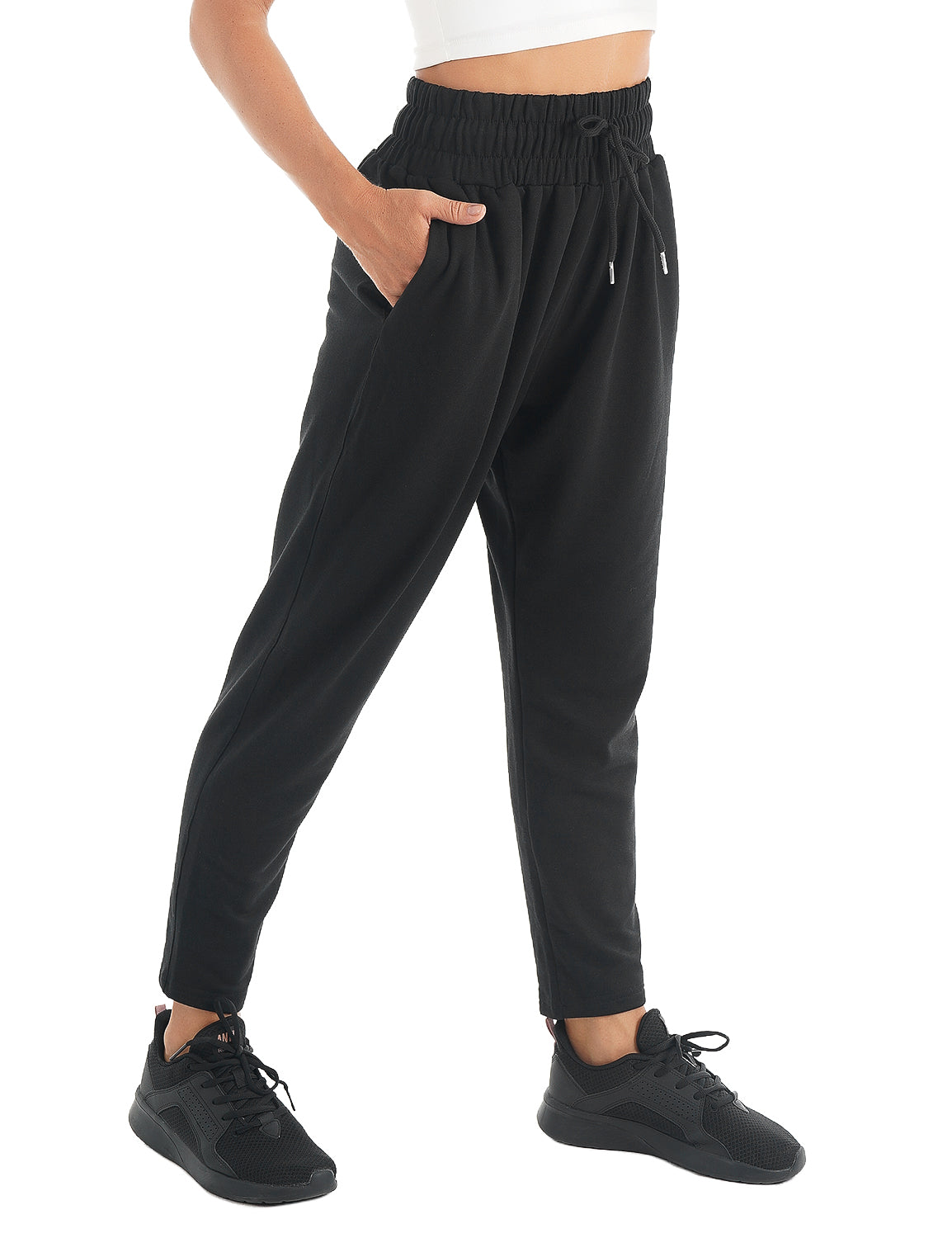 Blooming Jelly_Outdoor Sweatpants Casual Joggers_Black_255098_08_Women Sportswear Comfy Outfits_Bottoms_Joggers