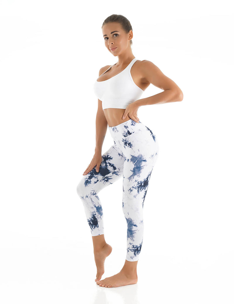 Blooming Jelly_Tie Dye High Waisted Capri Leggings_Tie Dye Print_256109_21_Women Athletic Comfy Outfits_Bottoms_Leggings