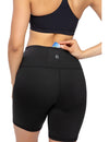 7 Inches High Waisted Biker Shorts Yoga Pants - Blooming Jelly