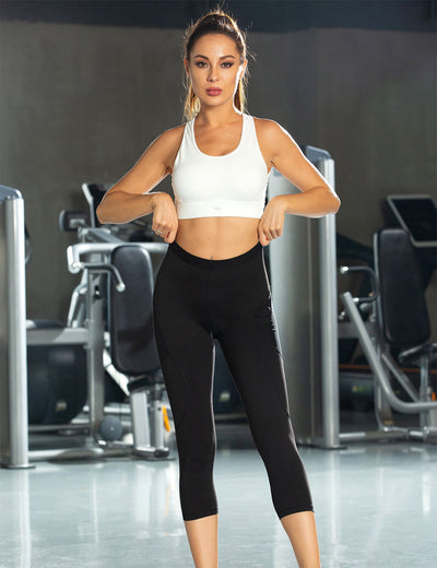 Blooming Jelly_Fit Training High Waisted Capri Leggings_Black_257016_02_Women Sportswear High Rise Gym Clothes_Bottoms_Leggings