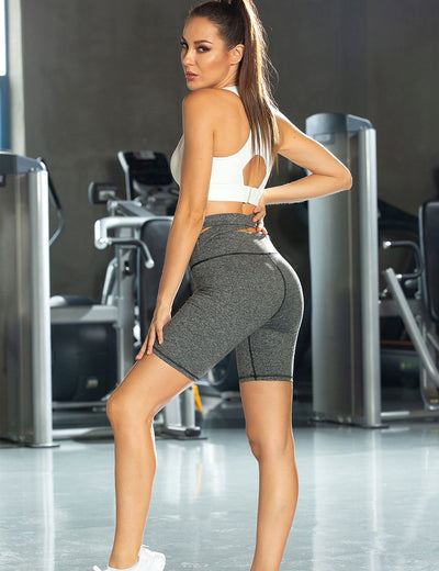 Blooming Jelly_Cutout Sports Biker Shorts_Light Gray_257062_39_Women Sportswear High Rise Gym Clothes_Bottoms_Shorts